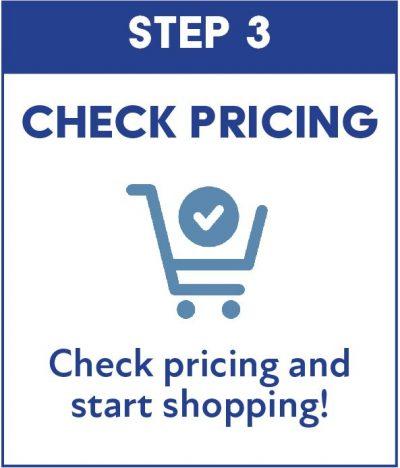 Step 3 block - check pricing